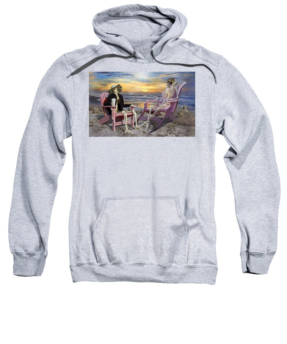 Human Sweatshirt featuring the photograph I'll Have One Of Those Drinks by Betsy Knapp