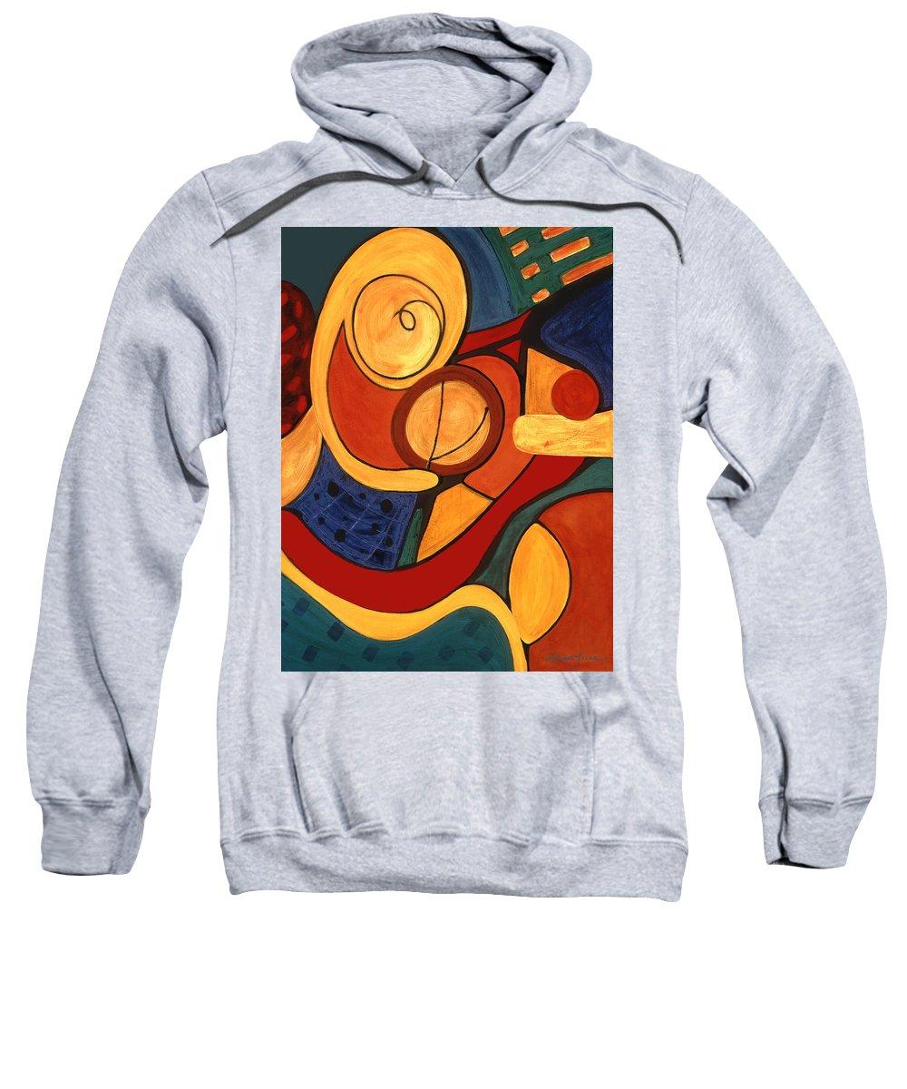 Abstract Art Sweatshirt featuring the painting Illuminatus 3 by Stephen Lucas