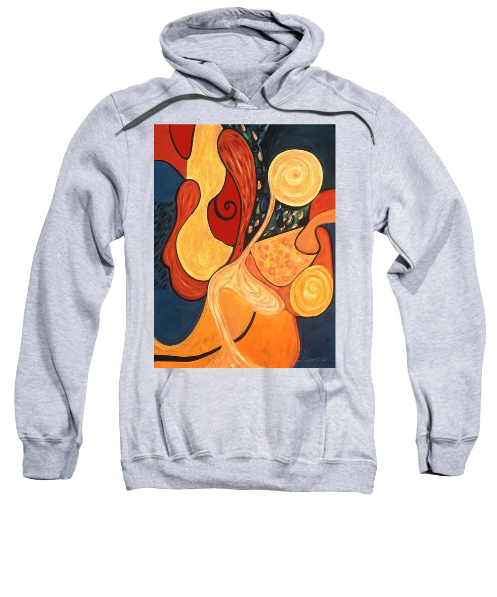 Abstract Art Sweatshirt featuring the painting Illuminatus 4 by Stephen Lucas