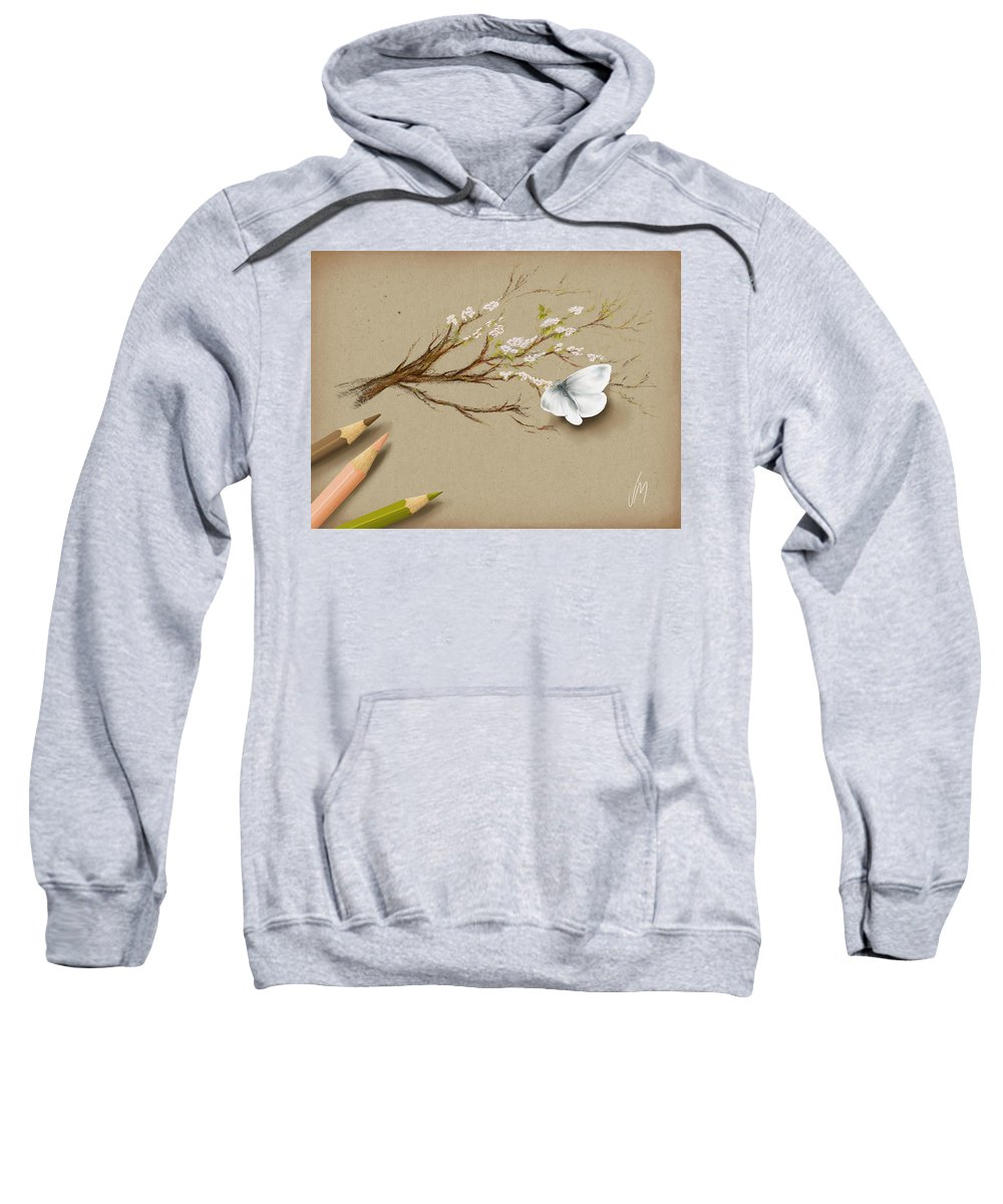 Butterfly Sweatshirt featuring the painting Illusion by Veronica Minozzi