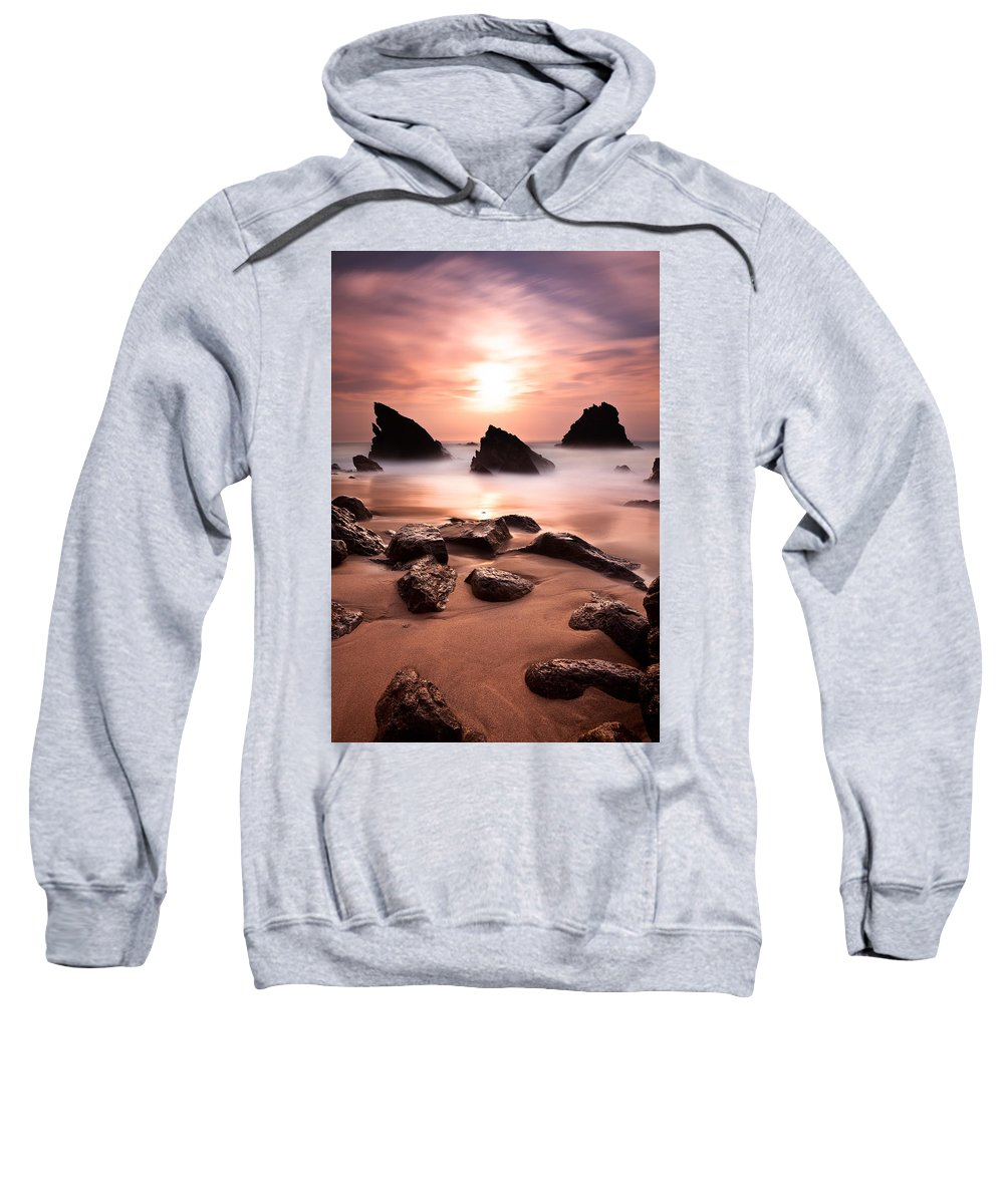 Beach Sweatshirt featuring the photograph Illusions by Jorge Maia