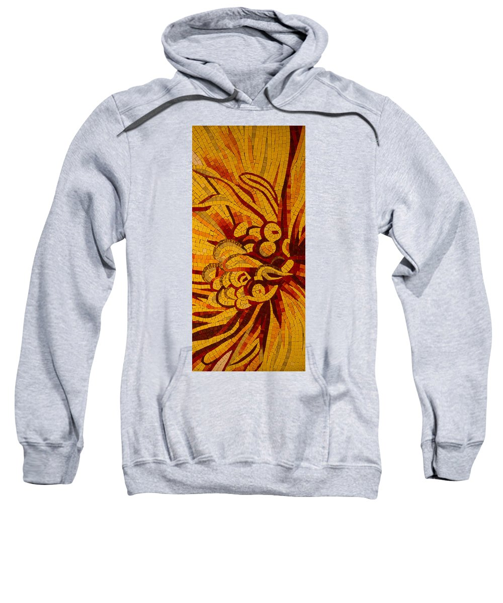 Imagination Sweatshirt featuring the photograph Imagination In Hot Vivid Yellows by Georgia Mizuleva