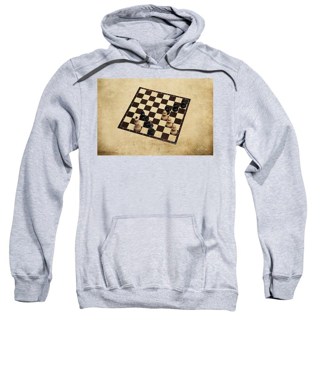 Chess Sweatshirt featuring the photograph Immortal Chess - Kasparov Vs Topalov 1999 by Alexander Senin