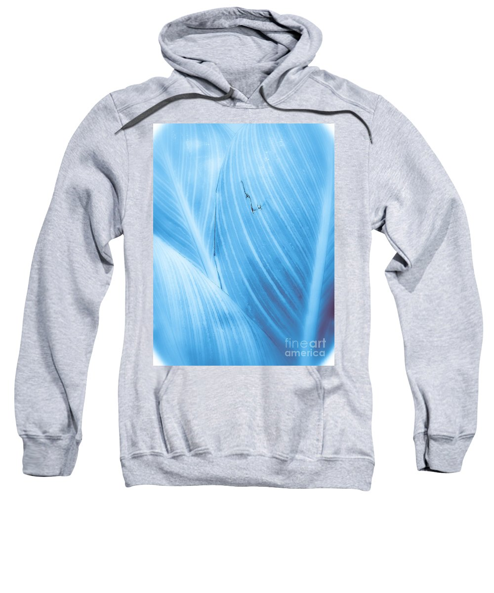 Abstract Sweatshirt featuring the photograph Imperfection Blue Version by Fei A