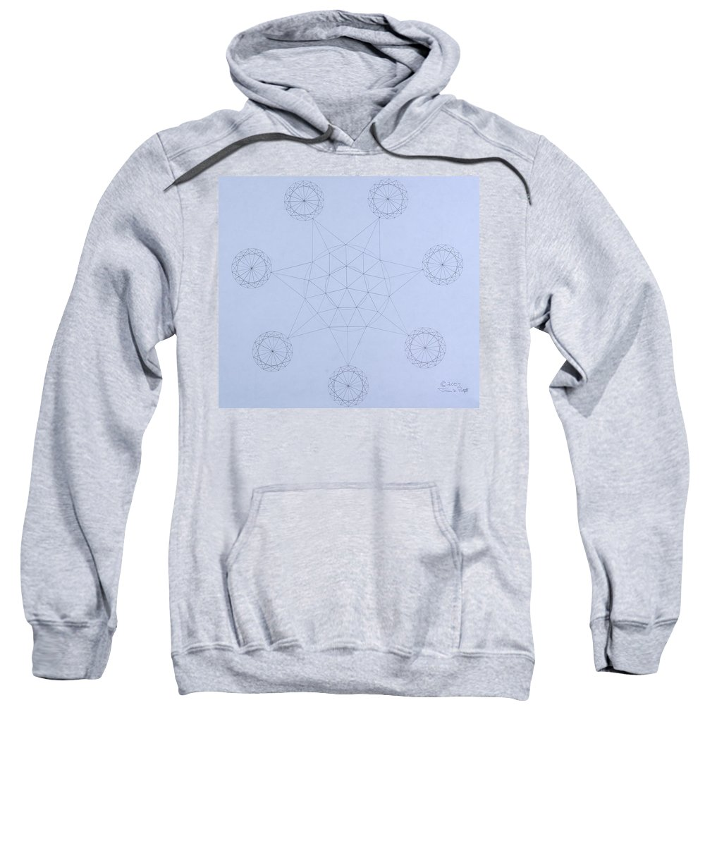 Jason Padgett Sweatshirt featuring the drawing Impossible Parallels by Jason Padgett