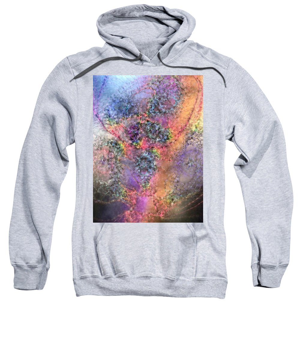 Abstract Sweatshirt featuring the digital art Impressionist Dreams 2 by Casey Kotas