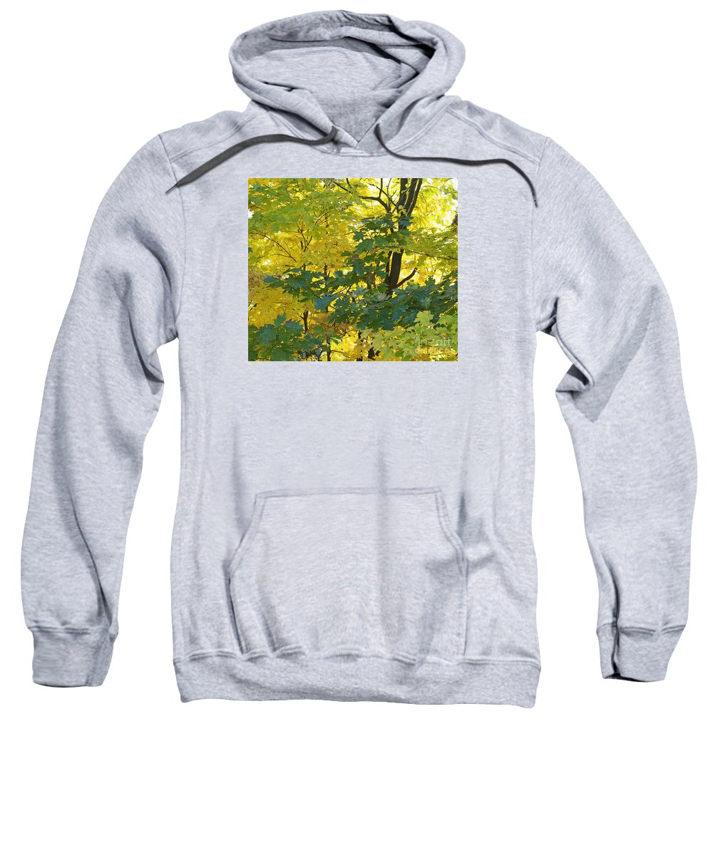 Autumn Sweatshirt featuring the photograph In Due Time by Ann Horn