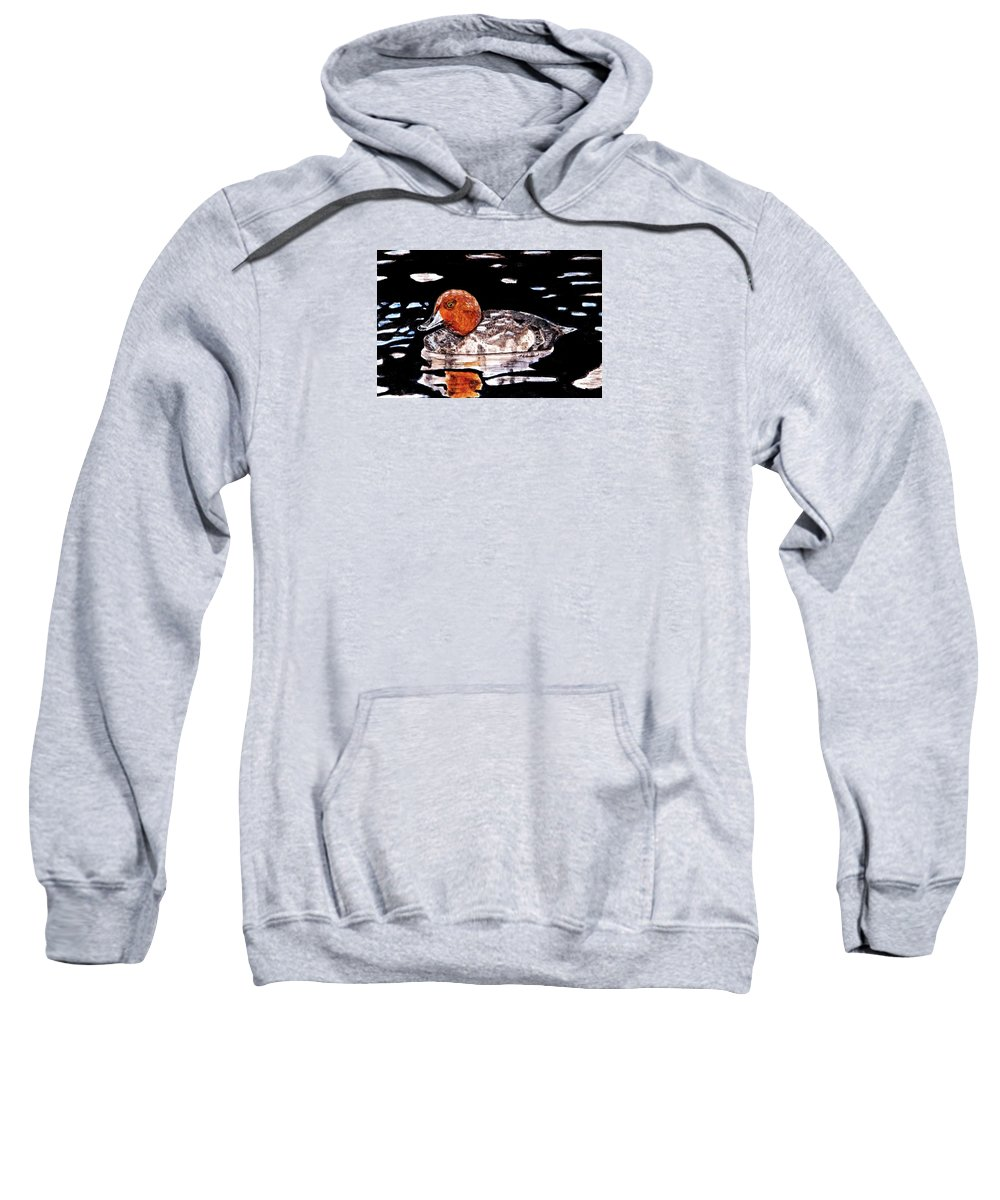 Ducks Sweatshirt featuring the painting In Love With Redheads by Angela Davies