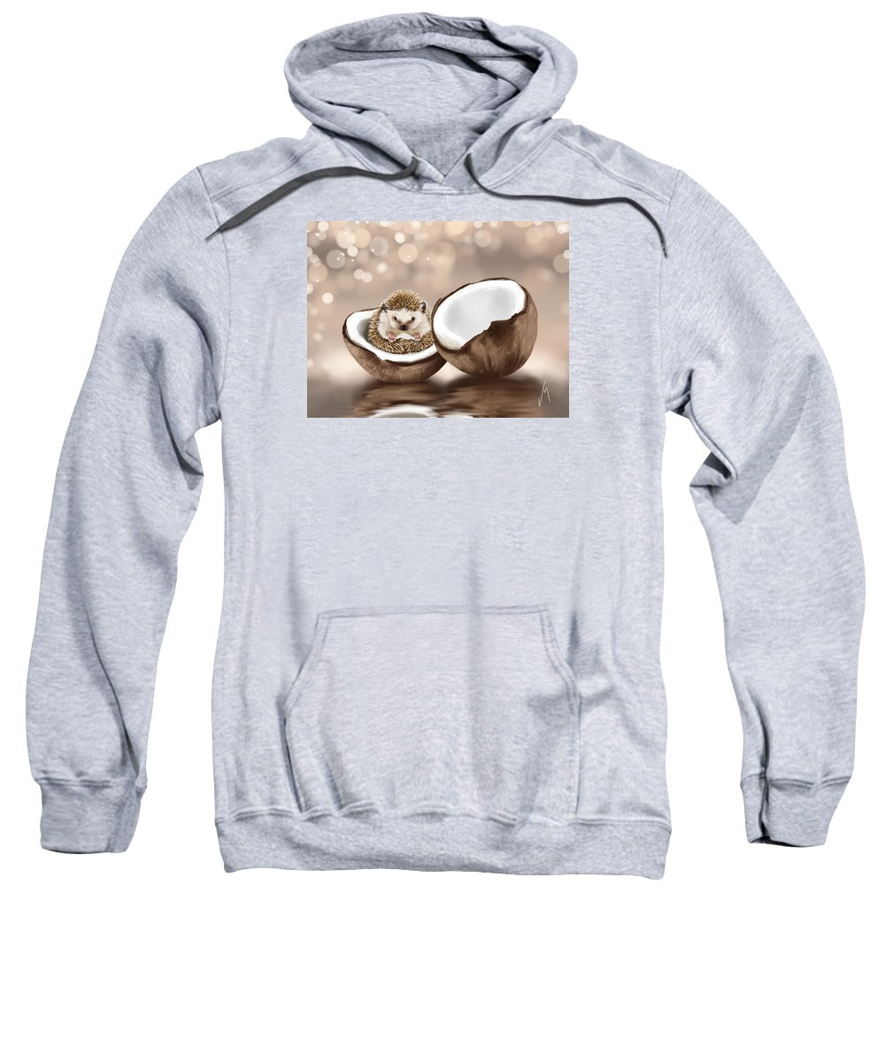 Ipad Sweatshirt featuring the painting In The Coconut by Veronica Minozzi