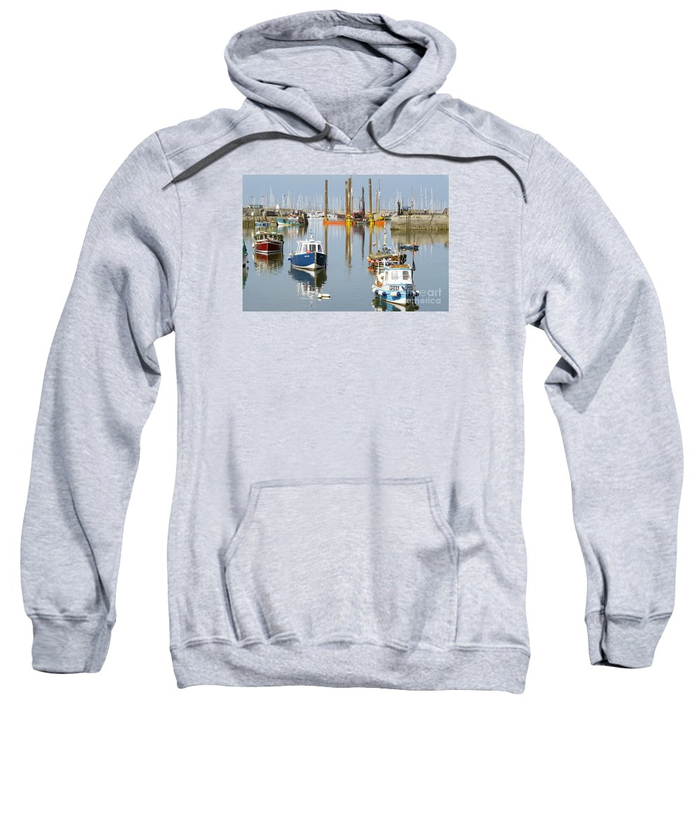 In Sweatshirt featuring the photograph In The Middle by Wendy Wilton