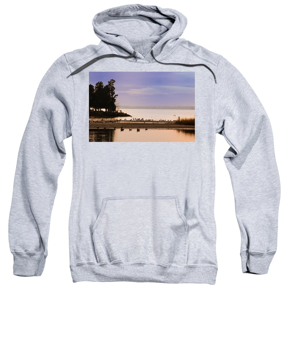 In The Quiet Morning Sweatshirt featuring the photograph In The Quiet Morning by Bill Cannon