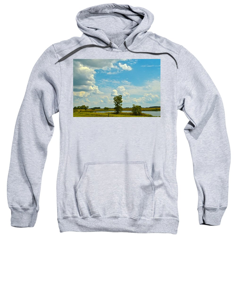 Storm Sweatshirt featuring the photograph Incoming by Frozen in Time Fine Art Photography
