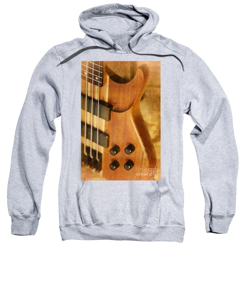 Bass Guitar Sweatshirt featuring the digital art Incredible Instrument by Erika Weber
