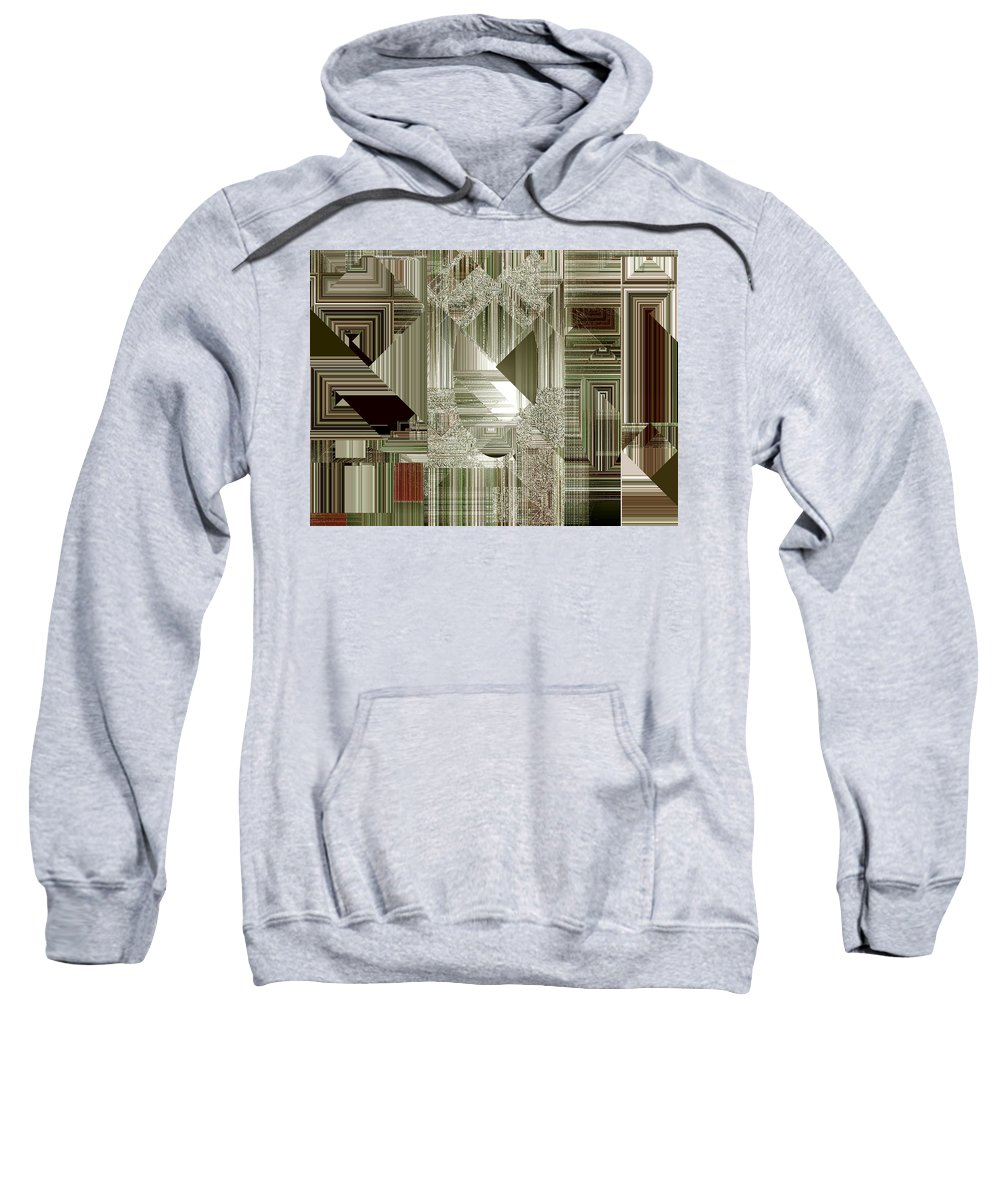 Abstract Sweatshirt featuring the painting Indecision I by RC DeWinter
