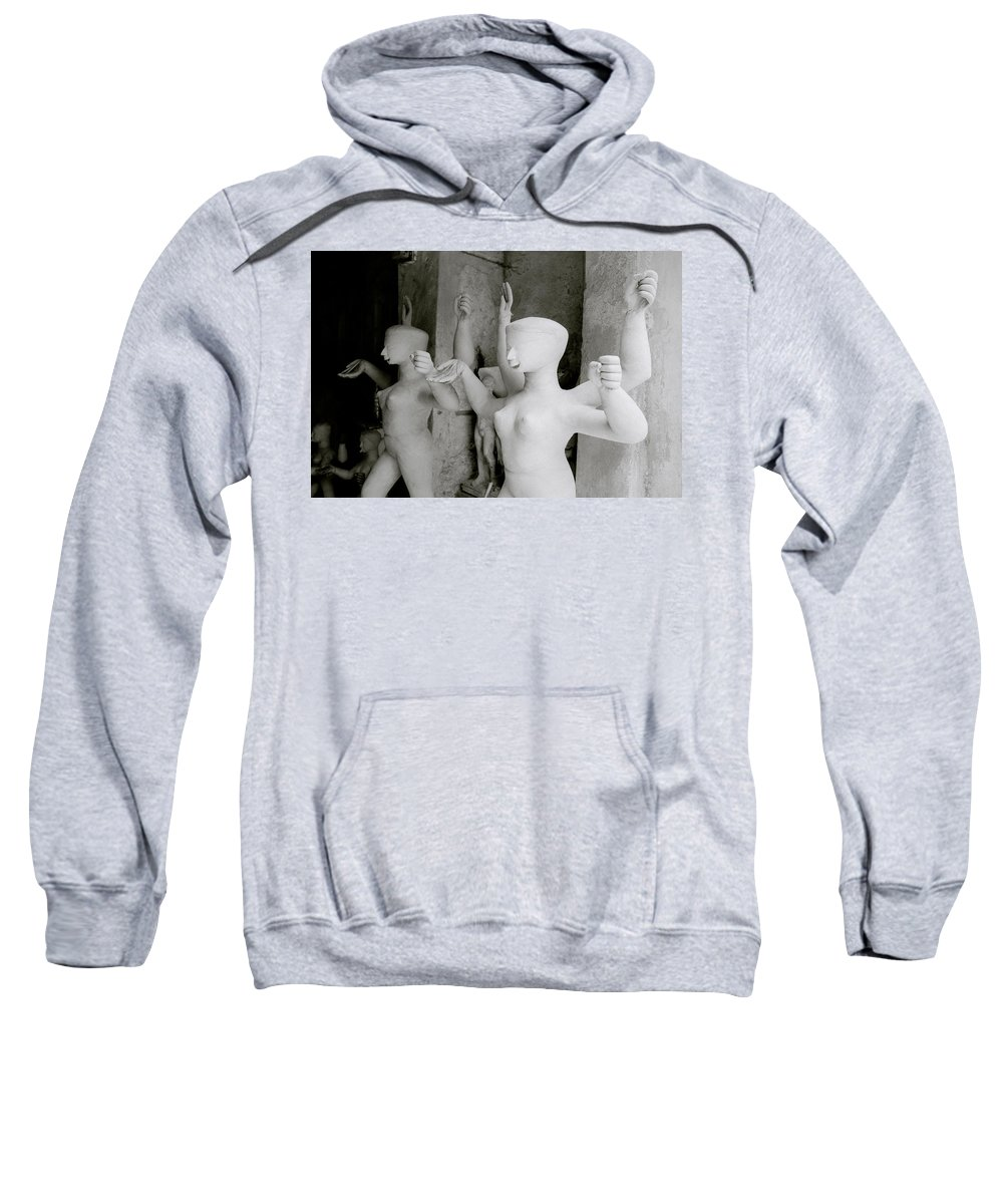 Woman Sweatshirt featuring the photograph Indian Sculpture by Shaun Higson