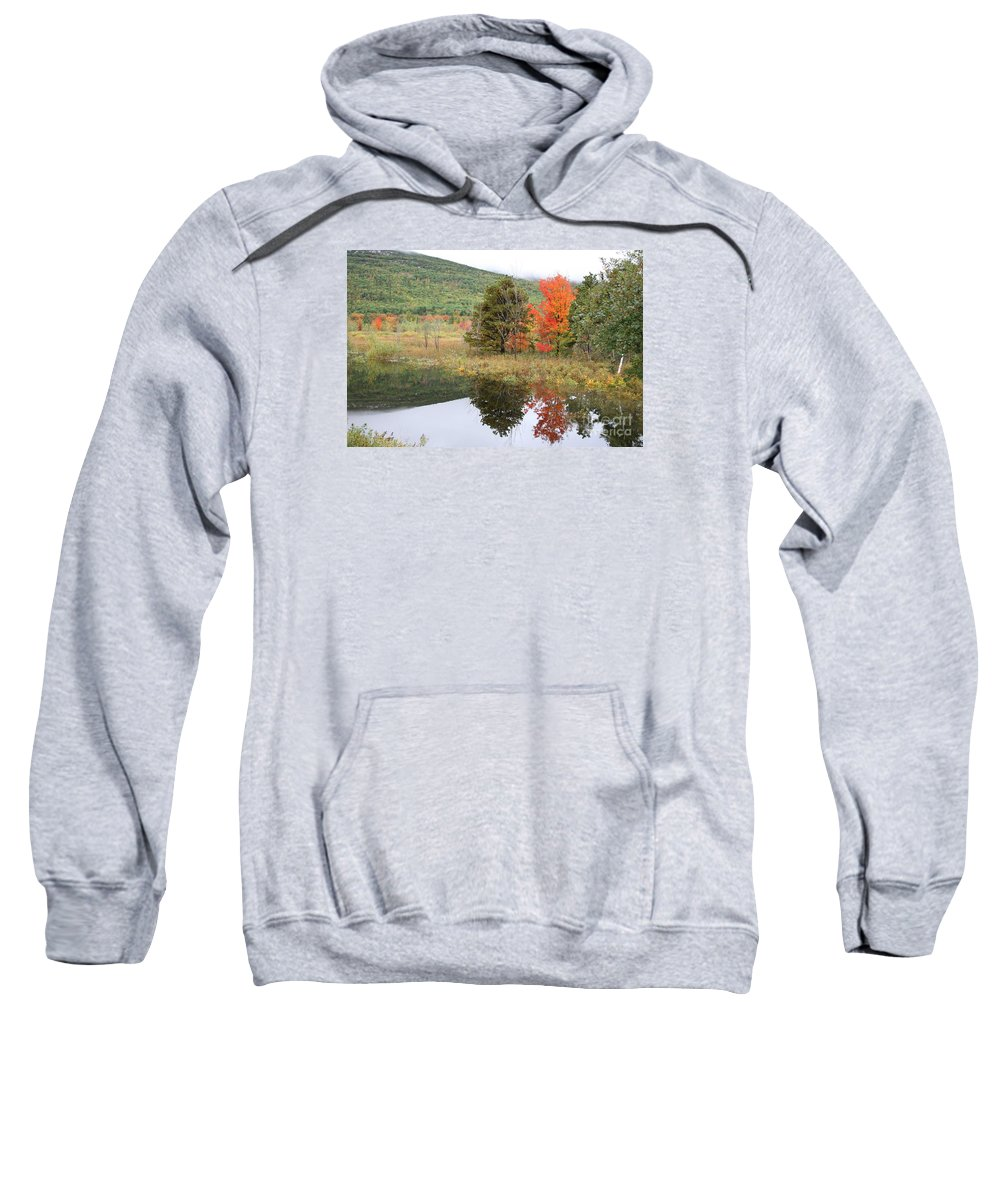 Autumn Sweatshirt featuring the photograph Indian Summer Acadia Park by Christiane Schulze Art And Photography