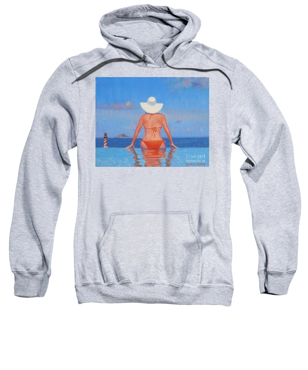 Woman Sweatshirt featuring the painting Infinity by Candace Lovely