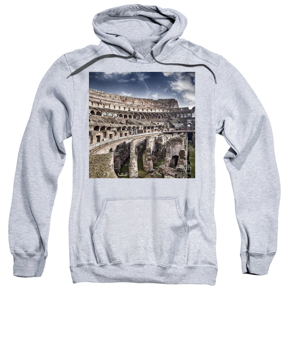 Rome Sweatshirt featuring the photograph Inside Colosseum by Sophie McAulay