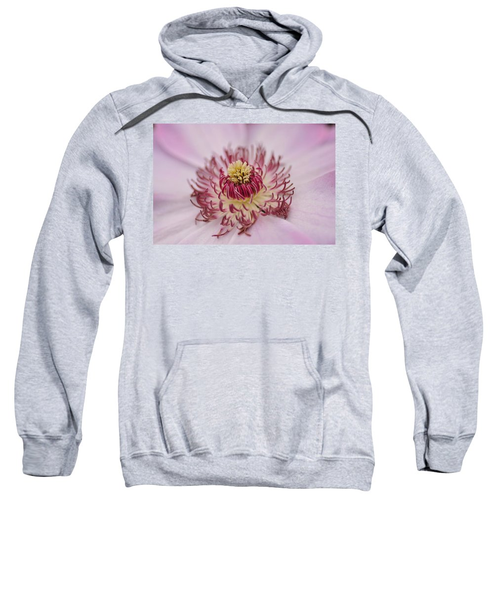 Floral Sweatshirt featuring the photograph Inside The Flower by Mike Martin