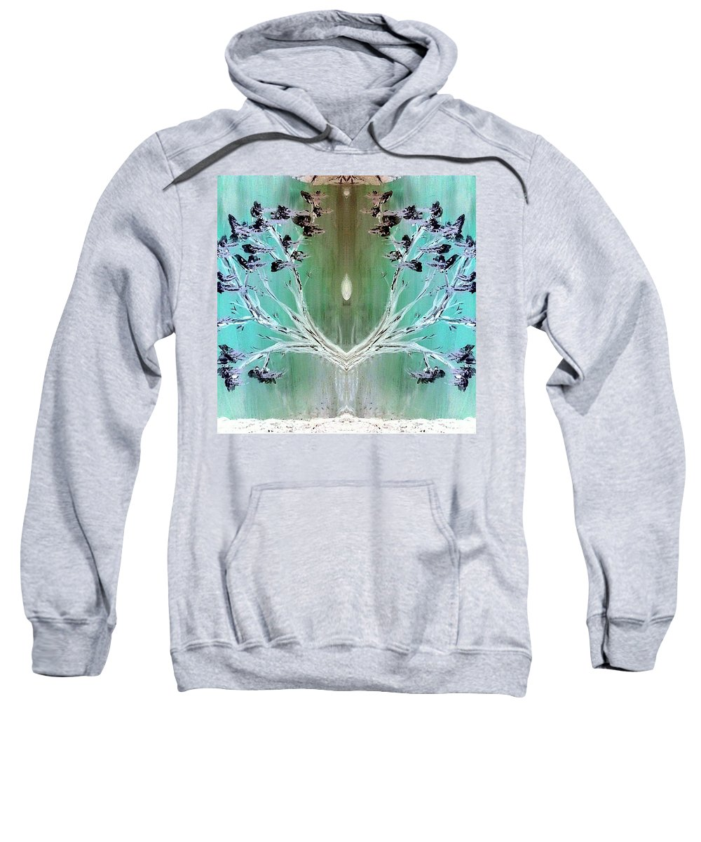 Inspiration Sweatshirt featuring the painting Inspiration by Lady Ex