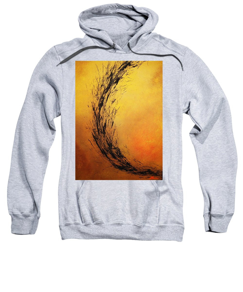Abstract Sweatshirt featuring the painting Instinct by Todd Hoover
