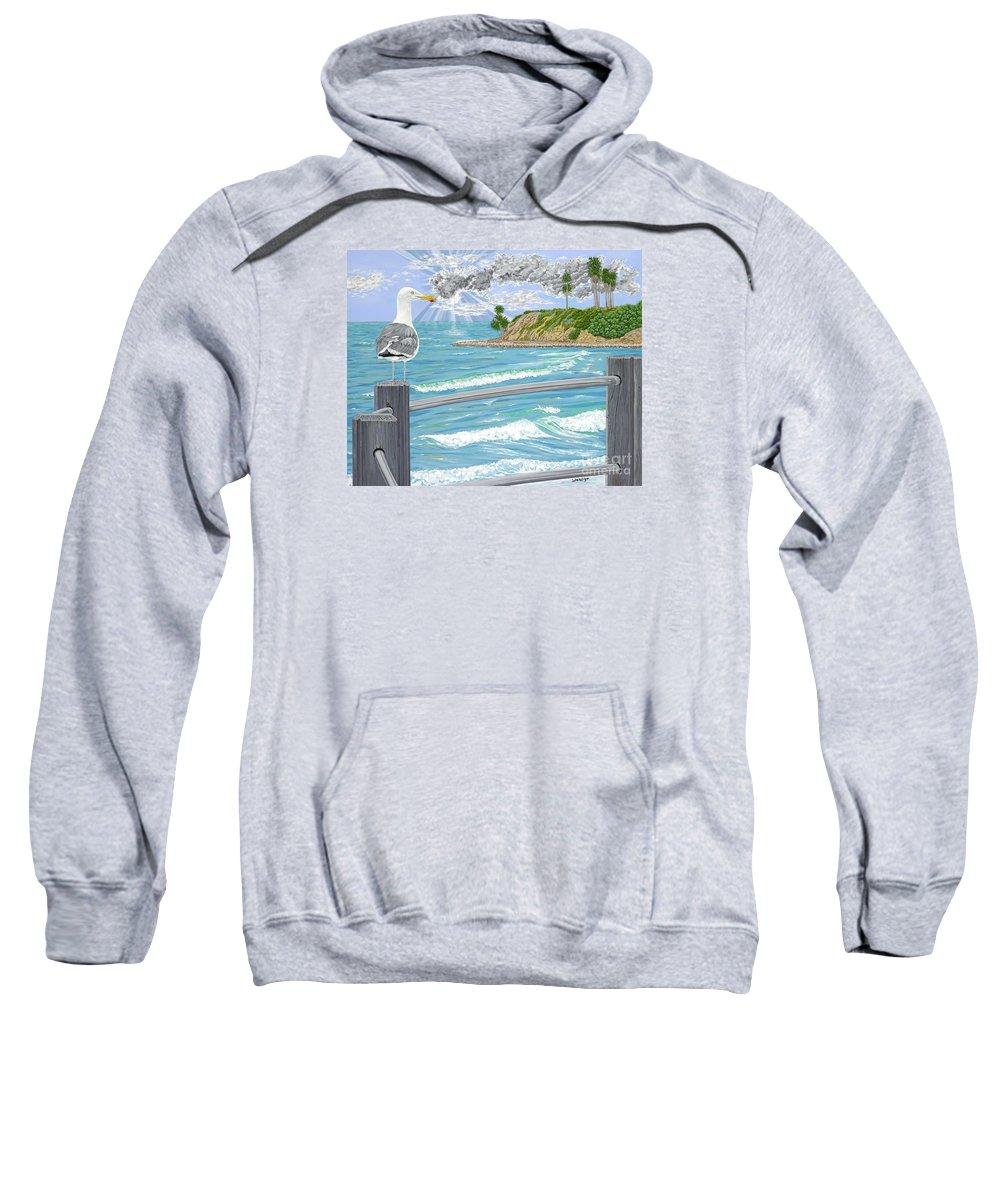 Sea Gull Sweatshirt featuring the painting Intensity by John Wilson