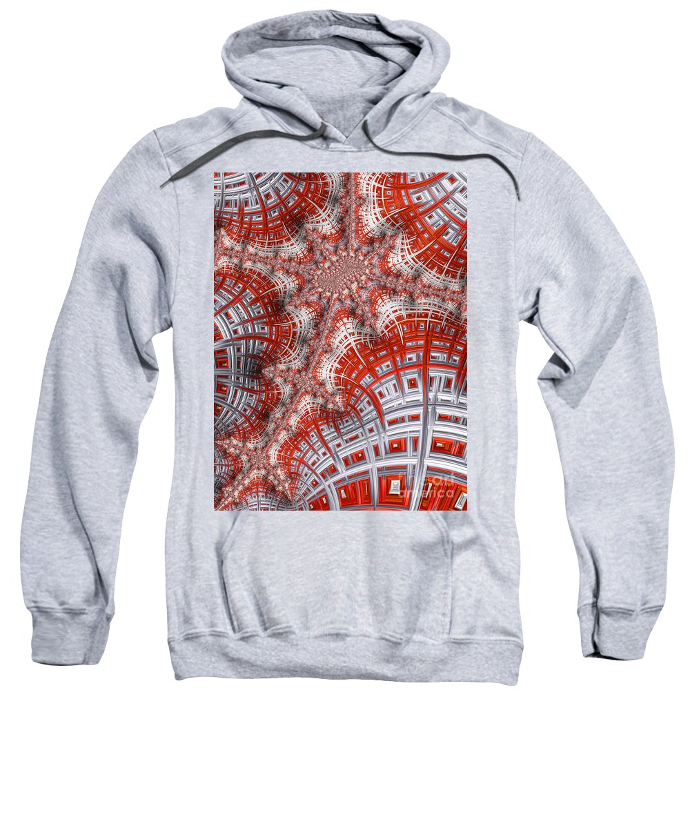 Art Sweatshirt featuring the digital art Intersecting by Heidi Smith