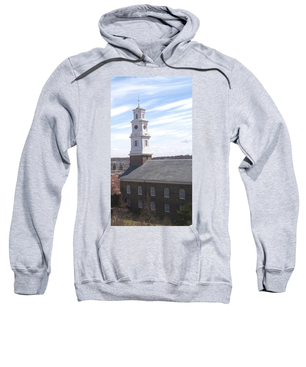 Architecture Sweatshirt featuring the photograph Into The Blue by Pharris Art