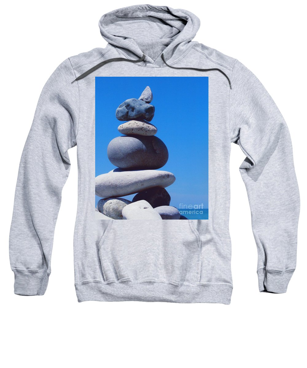 First Star Sweatshirt featuring the photograph Inukshuk 1 By Jammer by First Star Art
