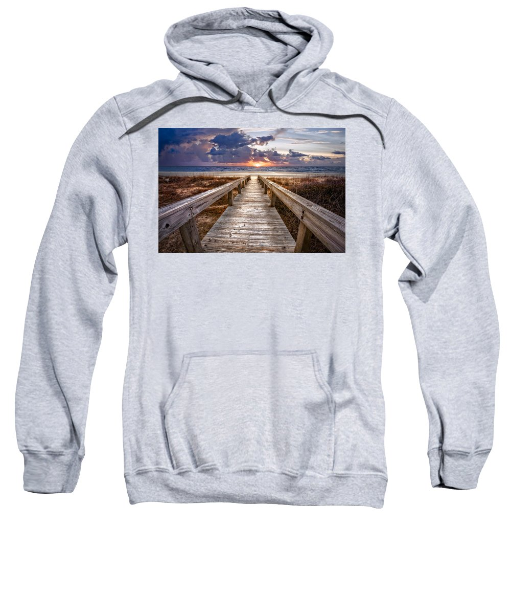 Clouds Sweatshirt featuring the photograph Invitation by Debra and Dave Vanderlaan