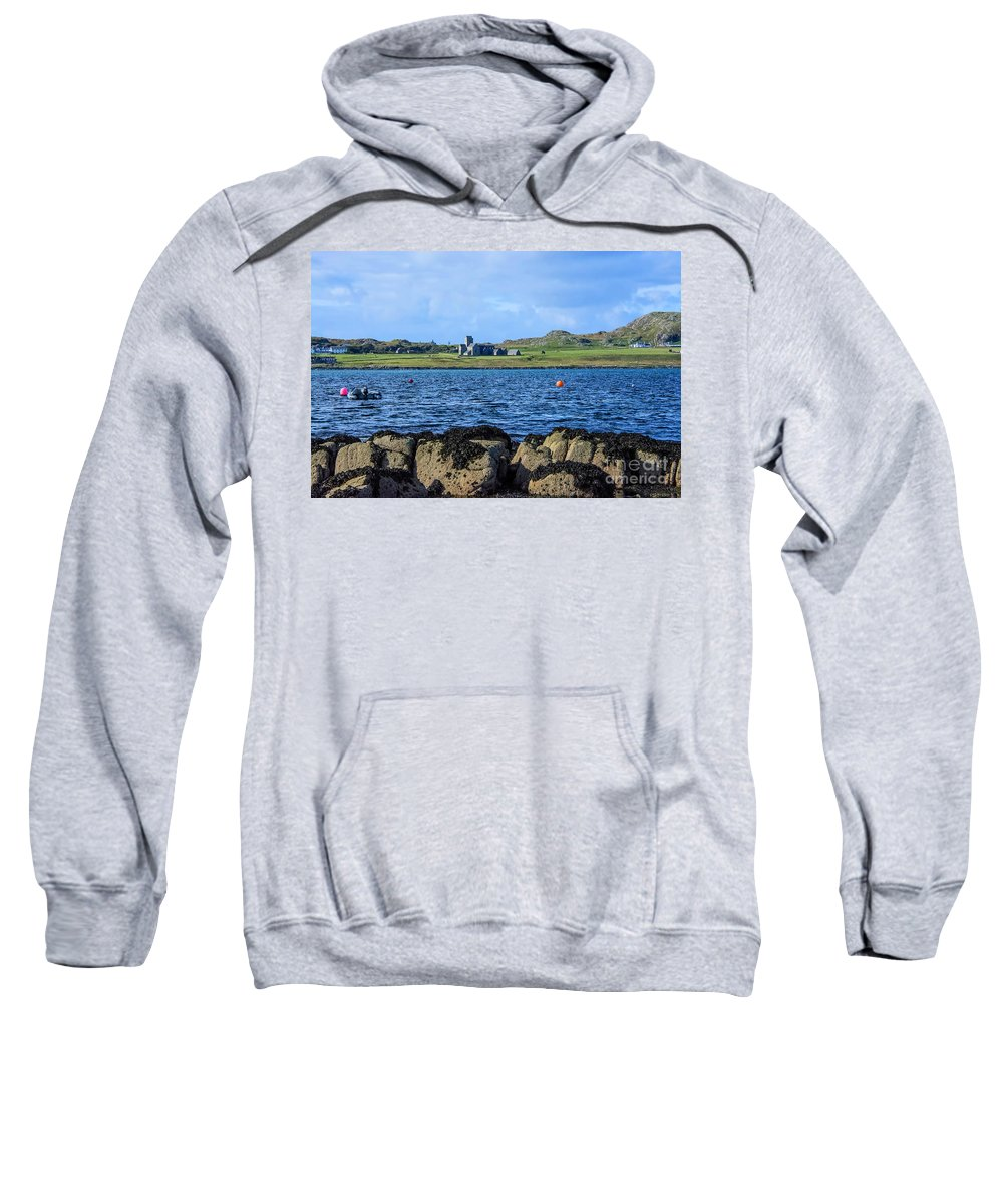 Scotland Sweatshirt featuring the photograph Iona Abbey Isle Of Iona by Chris Thaxter