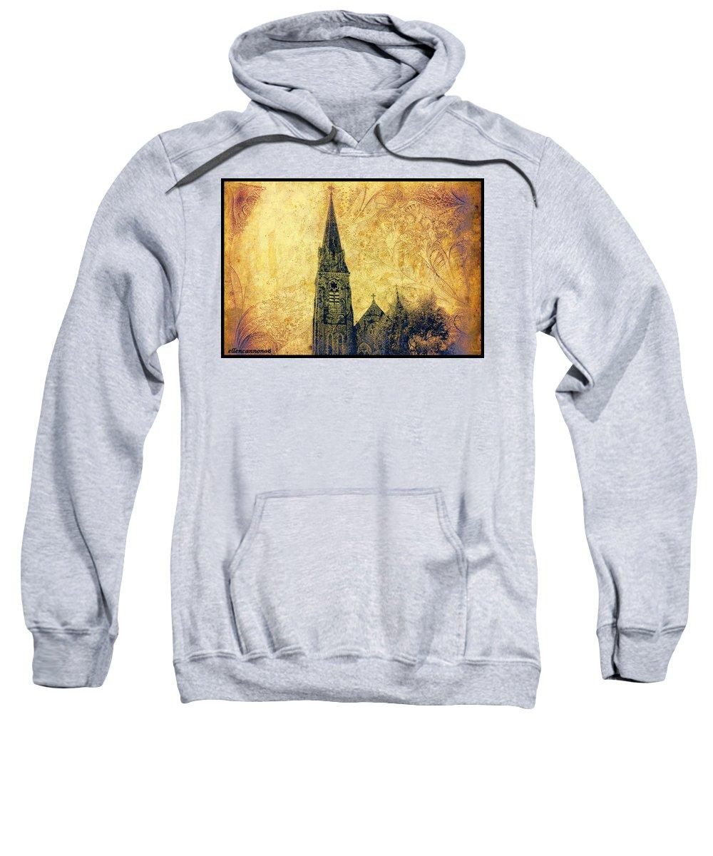 Ireland Sweatshirt featuring the photograph Ireland St. Brendan's Cathedral Spire by Ellen Cannon