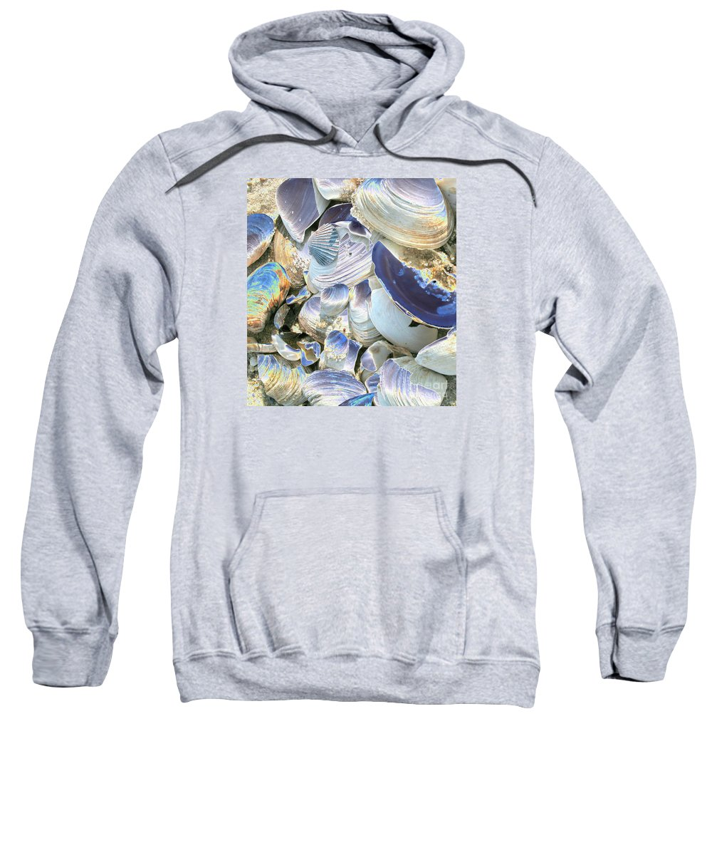 Shells Sweatshirt featuring the photograph Iridescent Shells II by Christiane Schulze Art And Photography