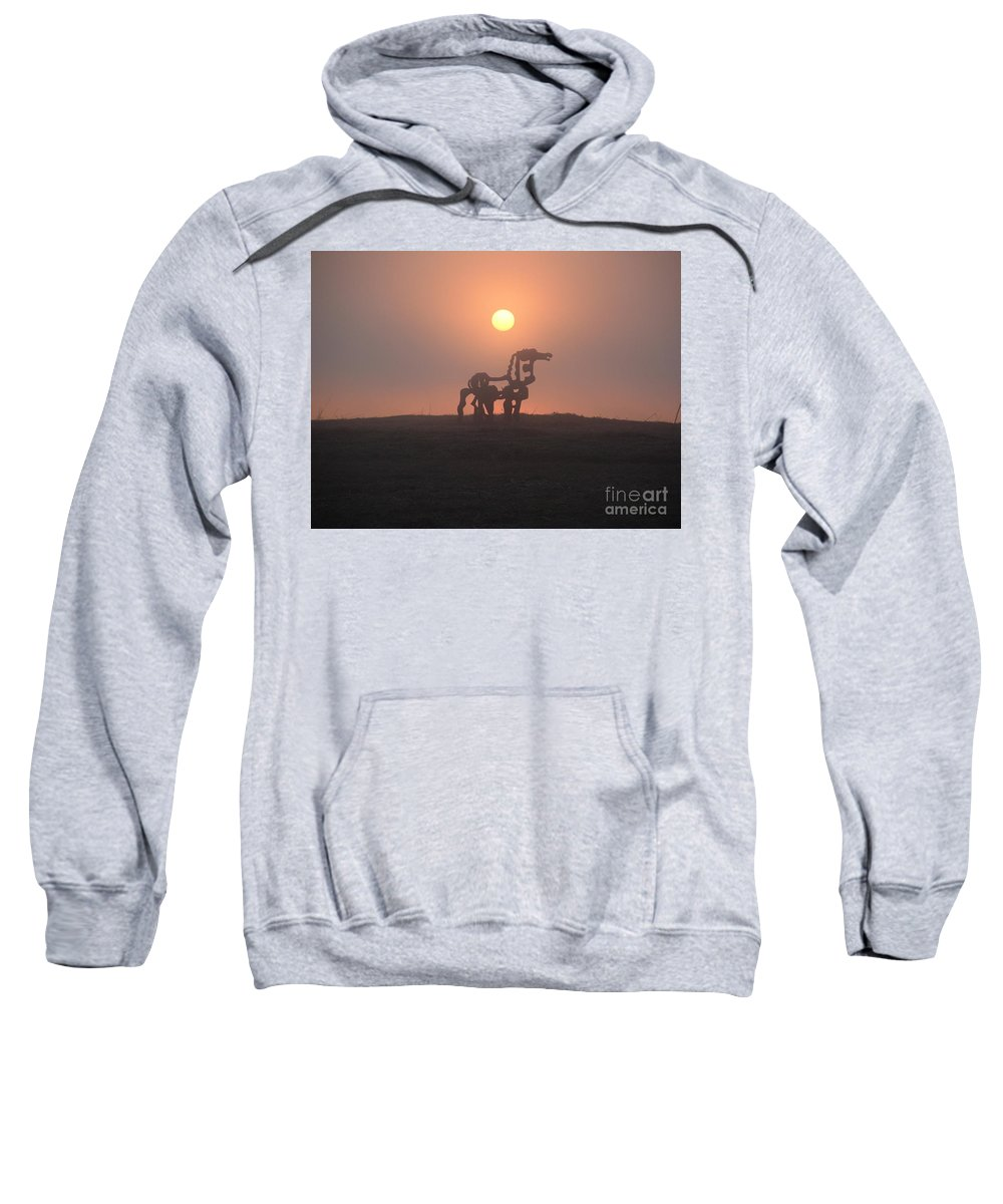Sunrise Sweatshirt featuring the photograph Iron Horse II by Reid Callaway