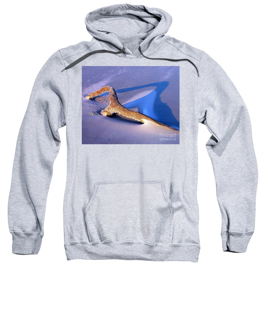 Driftwood Sweatshirt featuring the photograph Island Driftwood by Al Powell Photography USA