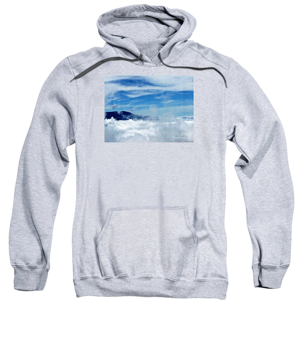 Mountain Sweatshirt featuring the photograph Island In The Clouds by Chris Sotiriadis