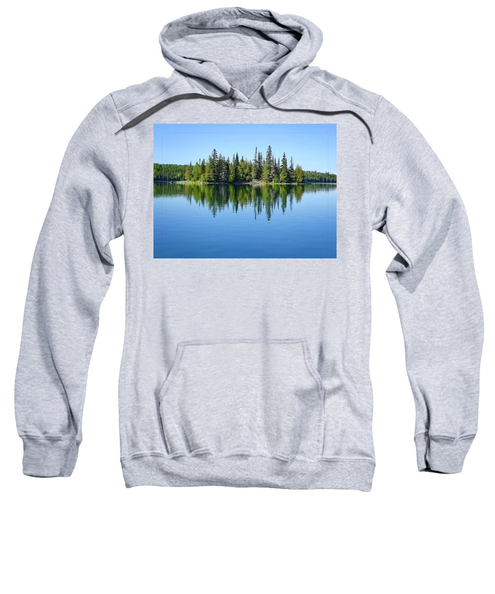 Isle Royale National Park Sweatshirt featuring the photograph Isle Royale Reflections by Kathryn Lund Johnson