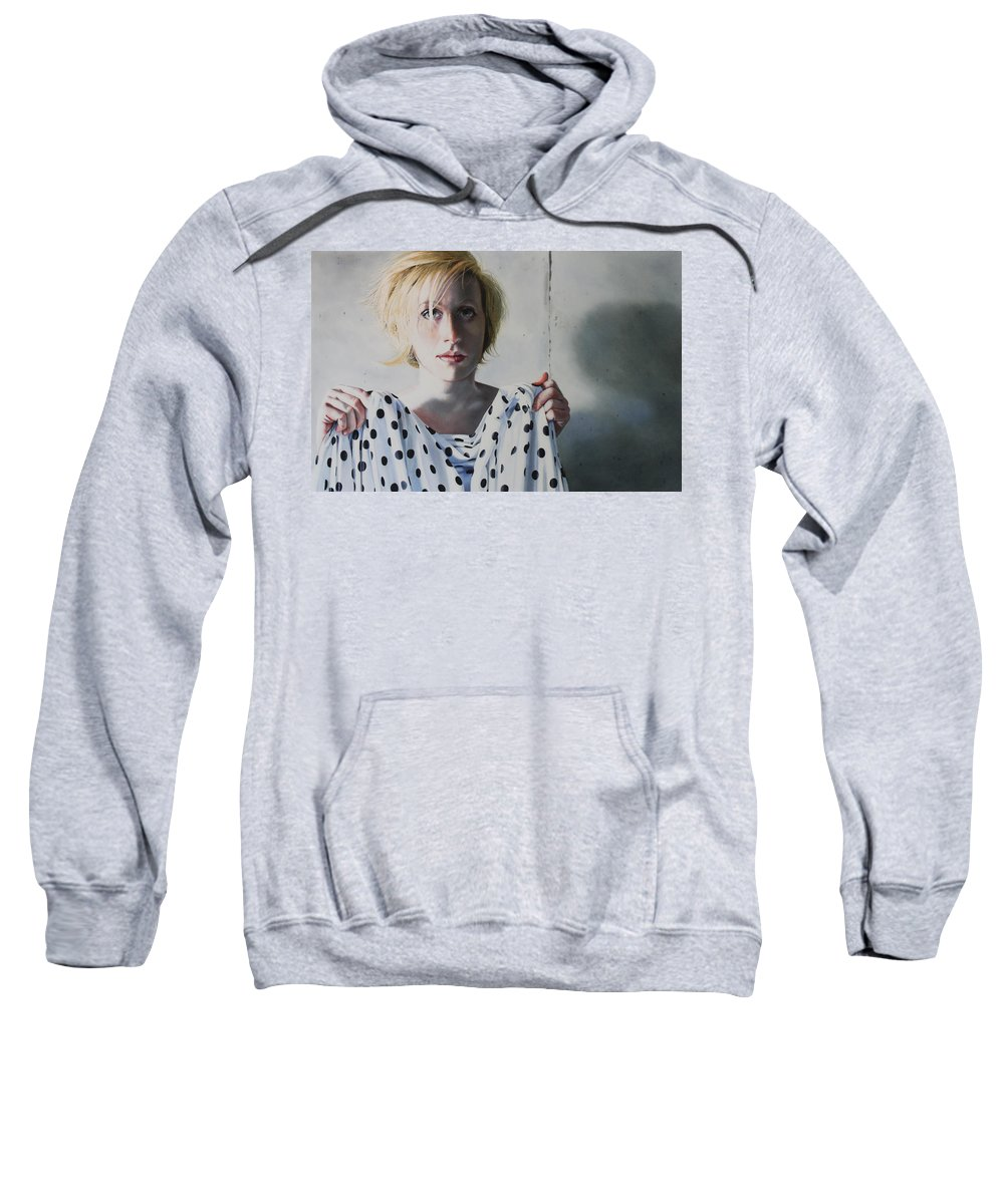 Female Sweatshirt featuring the painting Isolated by Denny Bond
