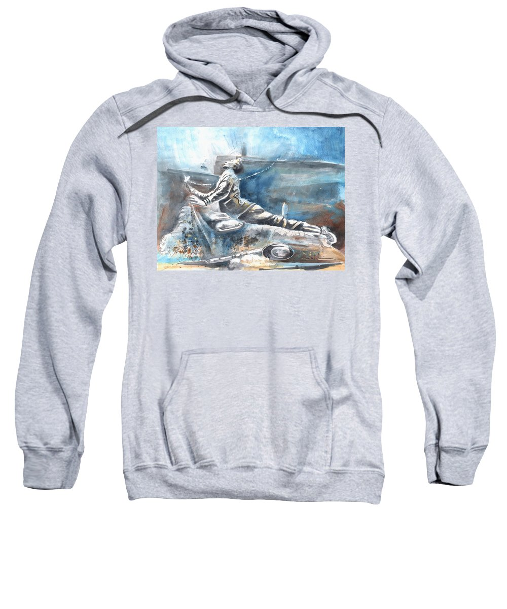 Italy Art Sweatshirt featuring the painting Italian Sculptures 04 by Miki De Goodaboom