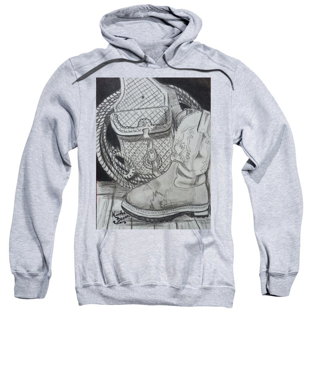Cowgirl Boots Sweatshirt featuring the drawing It's A Lifestyle by Kendra DeBerry