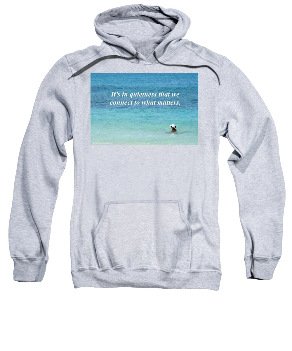 Ocean Sweatshirt featuring the photograph It's In Quietness by Pharaoh Martin