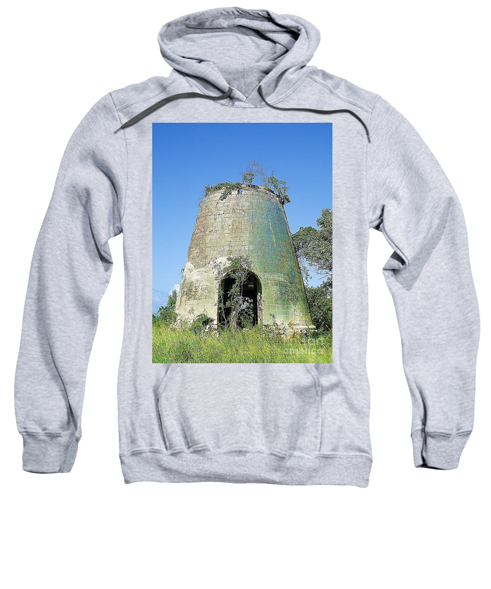 Sugar Sweatshirt featuring the photograph Jamaican Sugar Mill by Saundra Myles