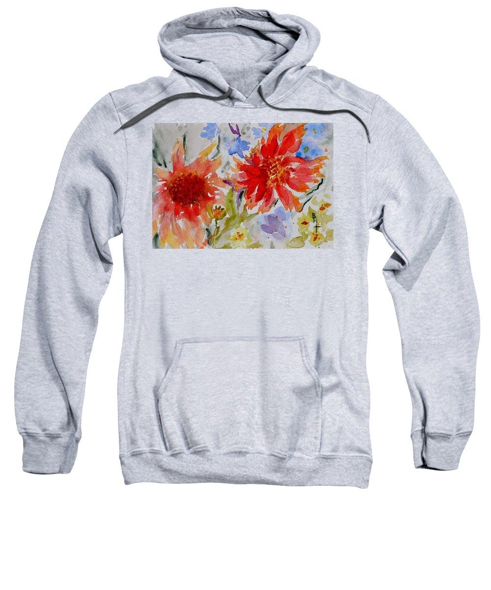 Flowers Sweatshirt featuring the painting Jann's Gaillardia by Beverley Harper Tinsley