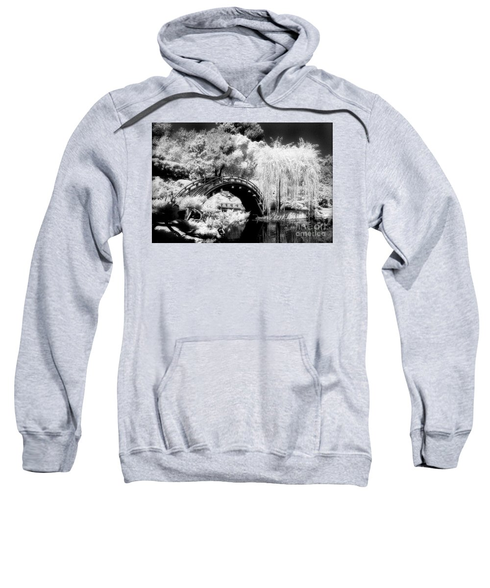 Infrared Sweatshirt featuring the photograph Japanese Gardens And Bridge by Paul W Faust - Impressions of Light