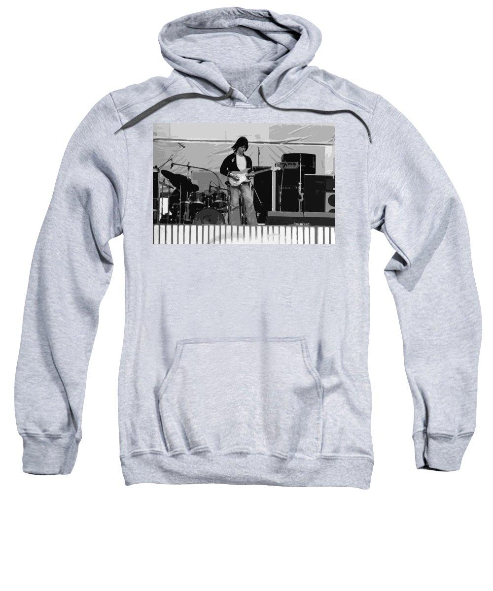 Jeff Beck Sweatshirt featuring the photograph Jb #15 Enhanced by Ben Upham