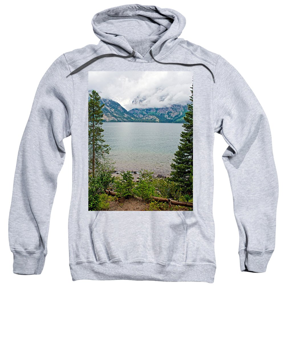 Jenny Lake In Grand Teton National Park Sweatshirt featuring the photograph Jenny Lake In Grand Tetons National Park-wyoming by Ruth Hager
