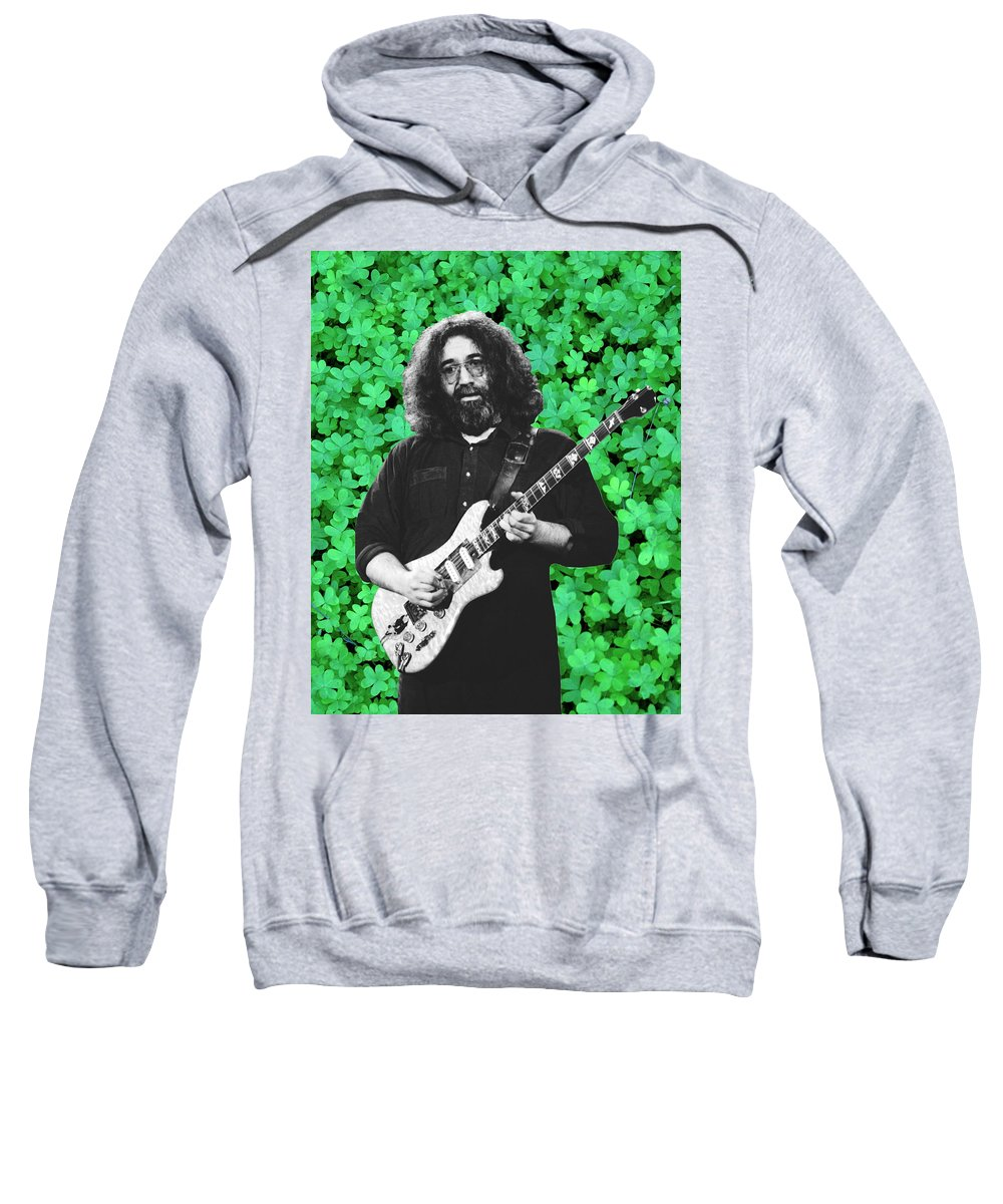 Jerry Garcia Sweatshirt featuring the photograph Jerry Clover 4 by Ben Upham