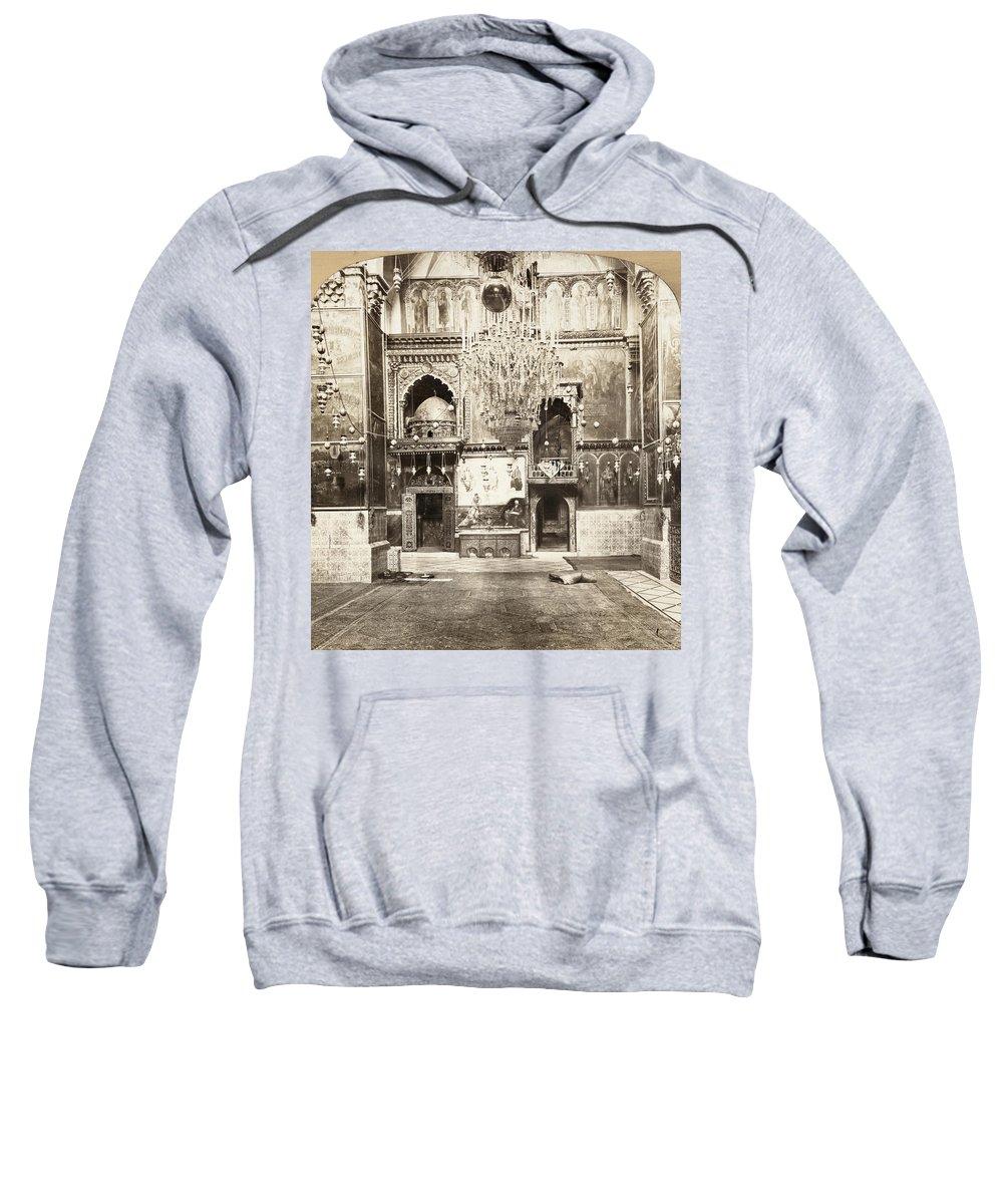1901 Sweatshirt featuring the painting Jerusalem Armenian Church by Granger