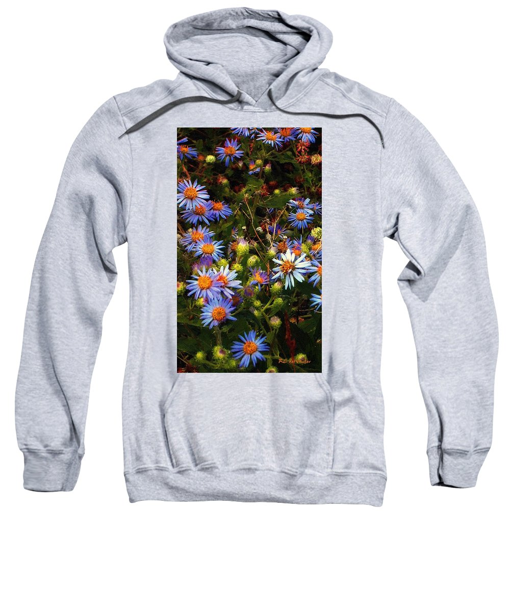 Daisies Sweatshirt featuring the painting Jewels Pastorale by RC DeWinter