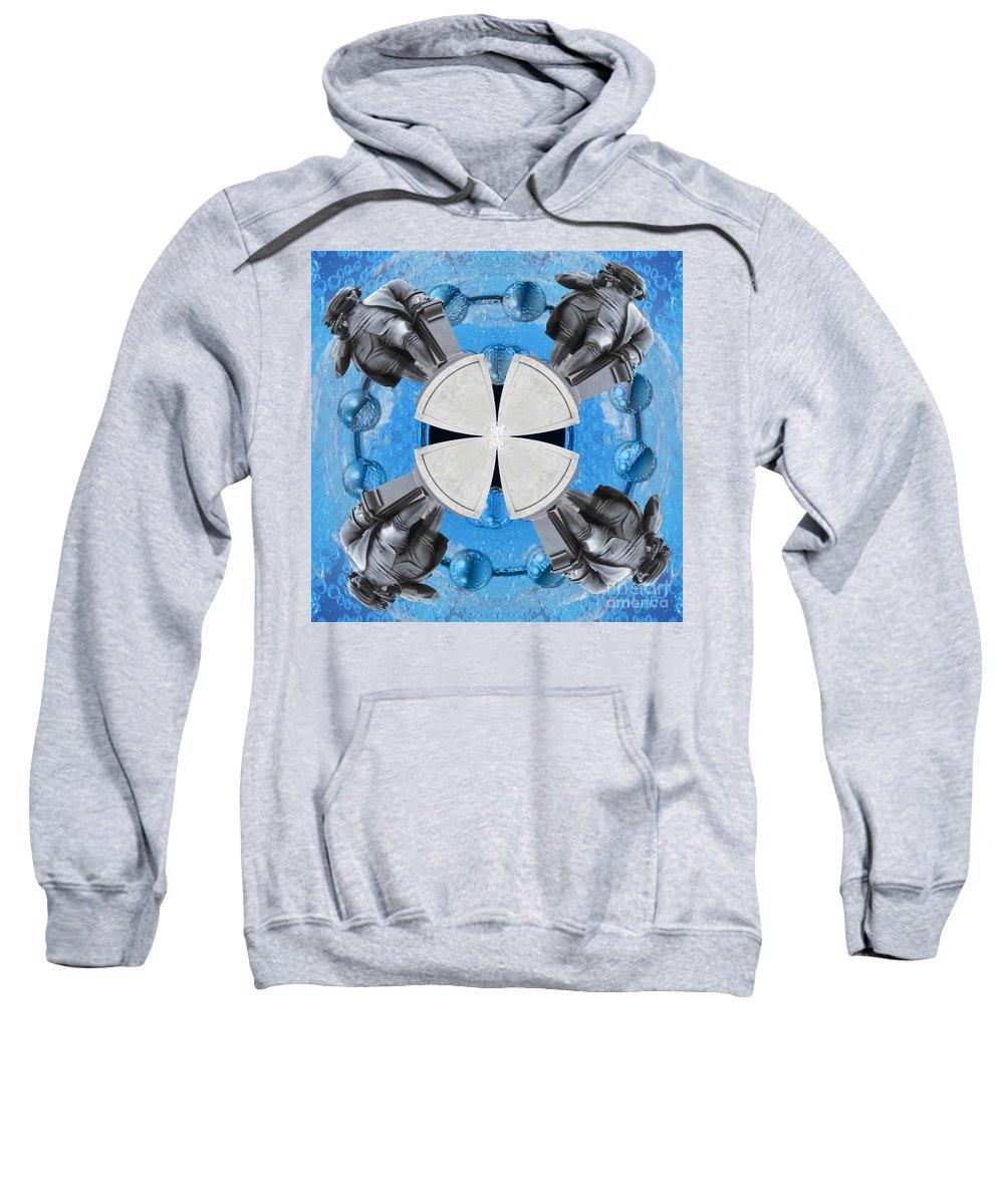 Castle Sweatshirt featuring the digital art Joseph Priestley Oxygen by Neil Finnemore